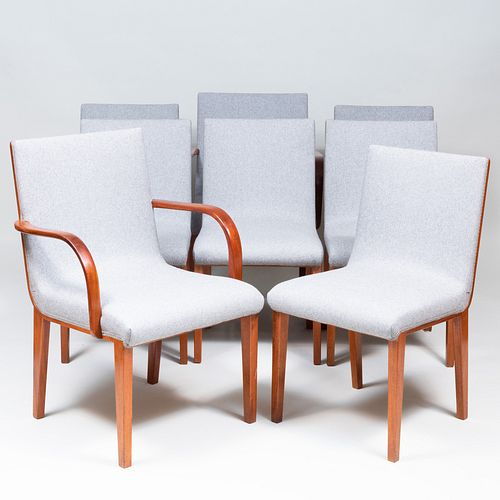 Set of Eight Scandinavian Mahogany Dining Chairs