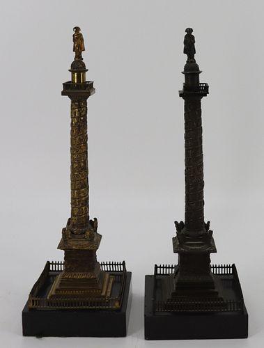 2 Bronze Grand Tour Models Of Nelsons Column