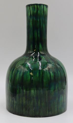 Antique Chinese Green Glaze Vase.