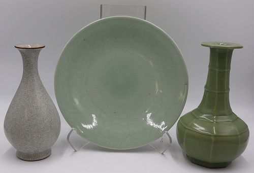 (3) Chinese Celadon Items.