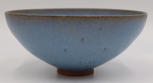 Chinese Blue Glazed Bowl.