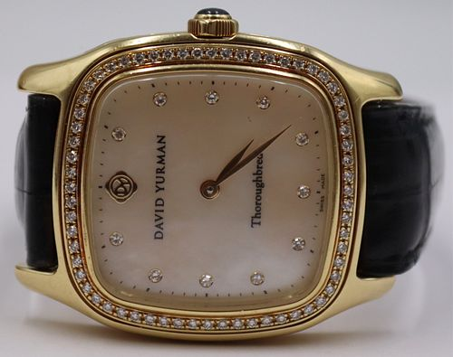 JEWELRY. David Yurman Thoroughbred 18kt Gold and