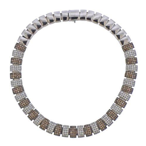 18k Gold 18 Carat Fancy White Diamond Necklace
