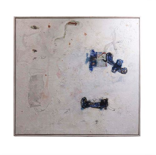 JORDI BOLDÓ Nuevo hallazgo 9. Firmado y fechado 2007 al reverso. Mixta sobre tela. Con certificado del artista. 120 x 125 cm