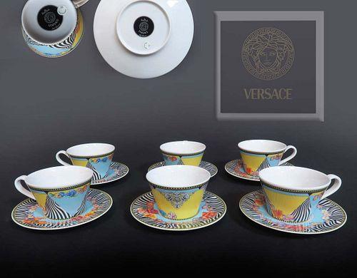 VERSACE Rosenthal HOT FLOWERS Tea Set (6 Pcs)