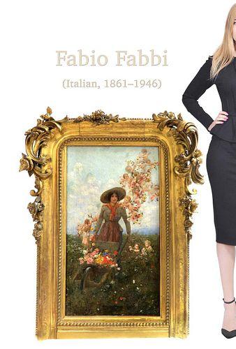 Magnificent Framed Fabio Fabbi (1861 - 1946, Italy) O/C