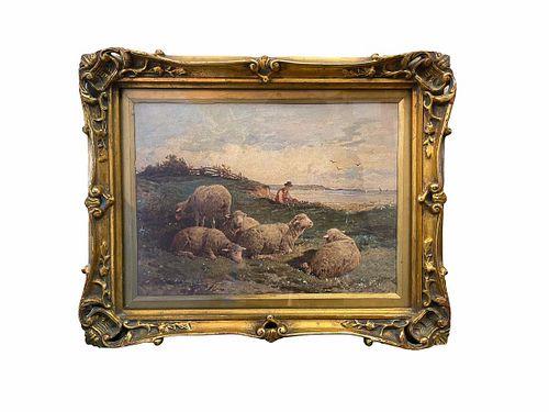 Felix Saturnin Brissot de Warville (1818-1892) Painting