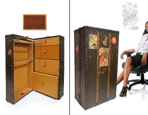 Louis Vuitton Vintage Steamer Wardrobe Trunk