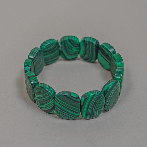 Pulsera de malaquita tallada / Carved malachite bracelet