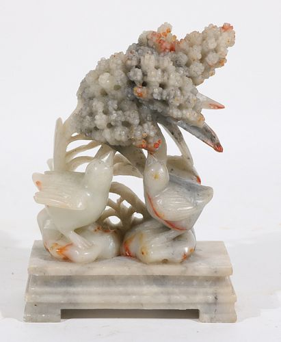Chinese Carved Jade Birds