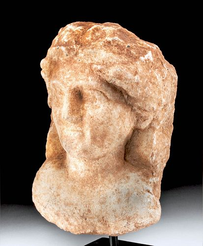 Roman Marble Bust of a Female / Muse