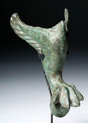 Roman Bronze Casket Foot - Lion Claw & Wings