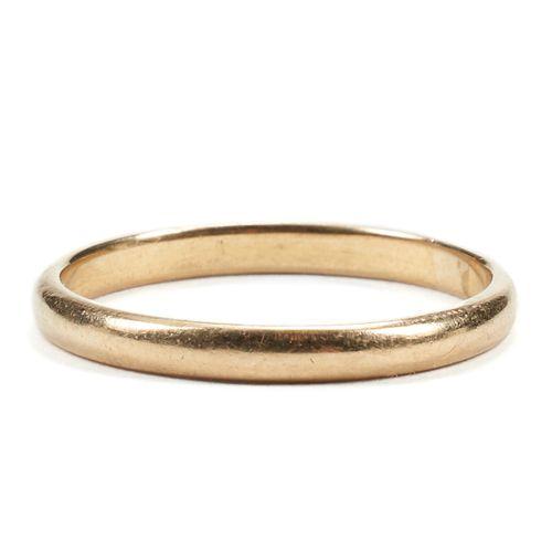 18K Yellow Gold 2.5 mm Wedding Band