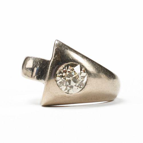 14K White Gold 1.2 Ct Diamond Ring