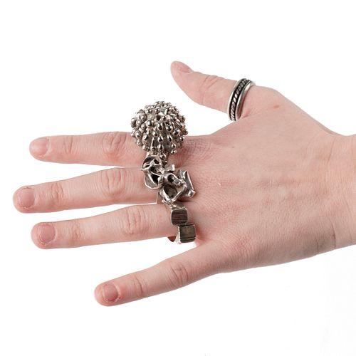Grp: 4 Brutalist Pal Kepenyes Silver Rings