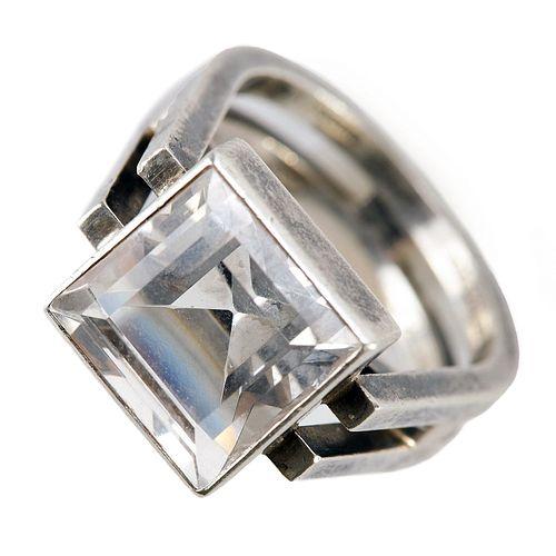 Rey Urban Fausing Sterling Silver Ring Modernist