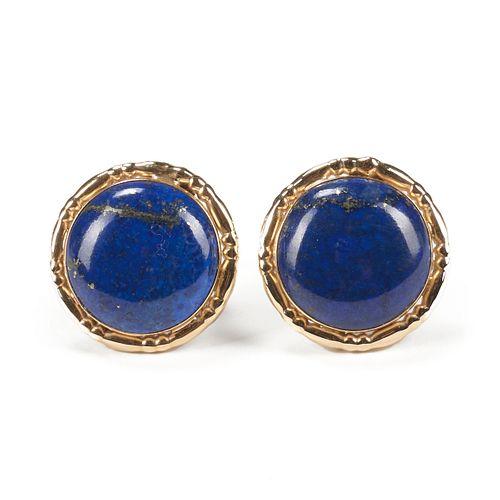 14K Gold & Lapis Lazuli Earrings