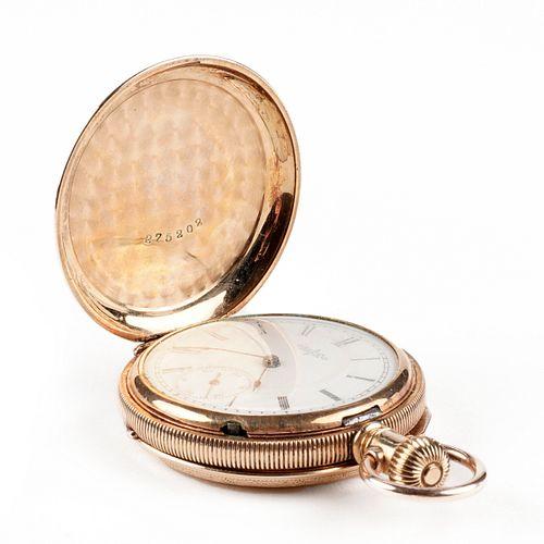 Elgin 14K Gold Full Hunter Pocket Watch