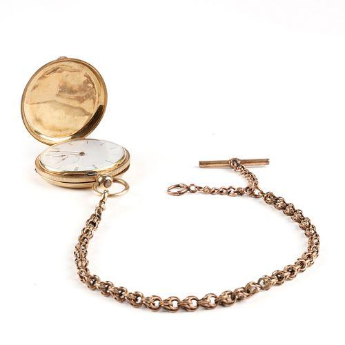 Jules Jurgensen 18K Gold Pocket Watch Hunter Case