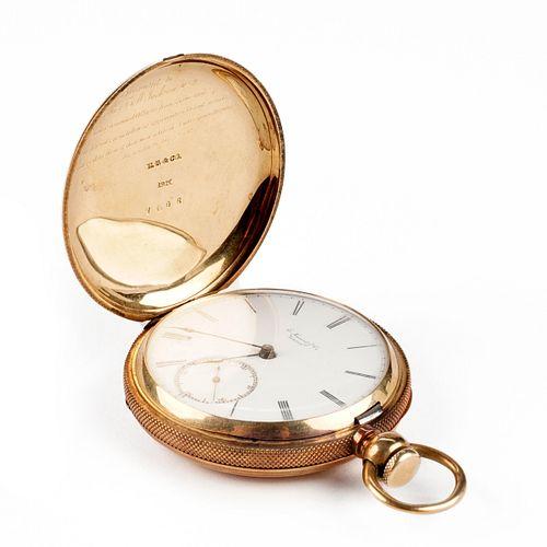 E. Howard & Co. 18K Gold Full Hunter Pocket Watch
