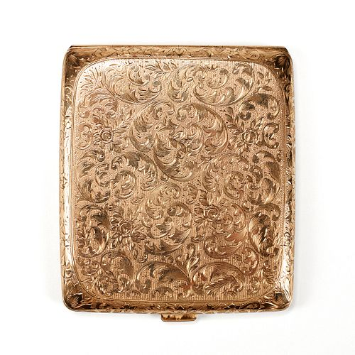 14K Yellow Gold Cigarette Case