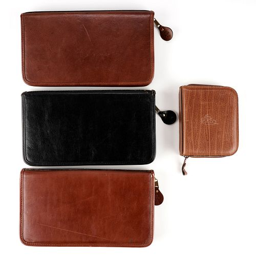 Grp: 4 Vintage Leather Watch Cases