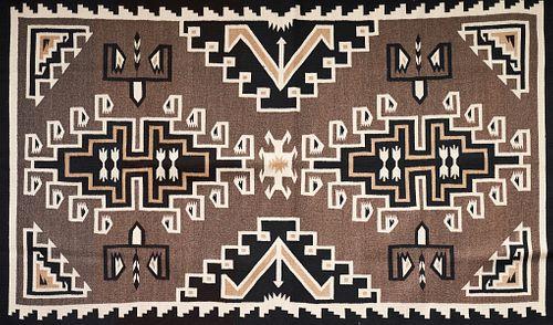 Small Two Grey Hills Navajo Rug 4' x 8'