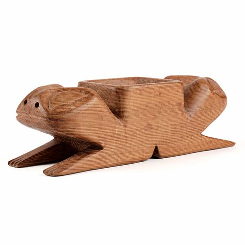 Northwest Carved Potlatch Frog Bowl