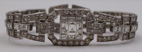 JEWELRY. Platinum and 14+ct Diamond Bracelet.