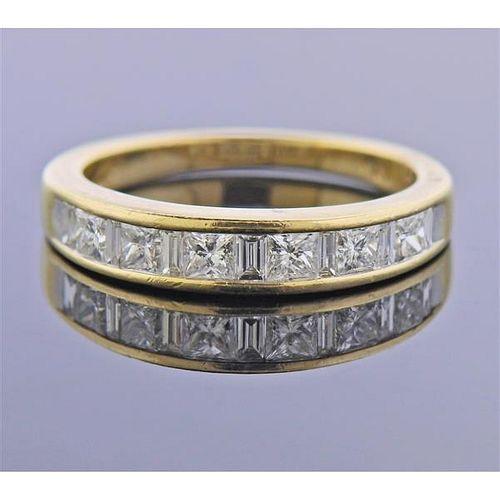 14K Gold Diamond Half Band Ring