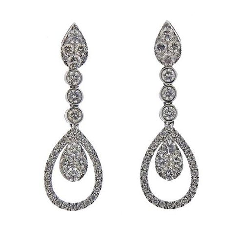 14K Gold Diamond Teardrop Earrings