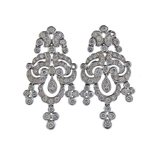 14K Gold Diamond Chandelier Earrings