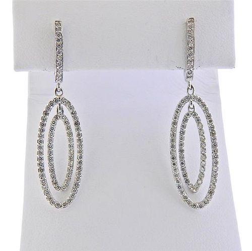 Barry Kronen 18k Gold Diamond Drop Earrings