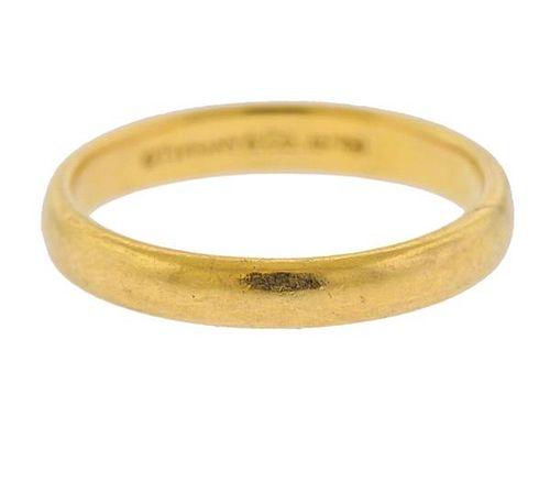Tiffany & Co 18K Gold Wedding Band Ring