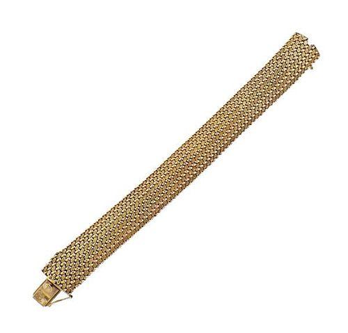 1960s Cartier 14K Gold  Wide Bracelet
