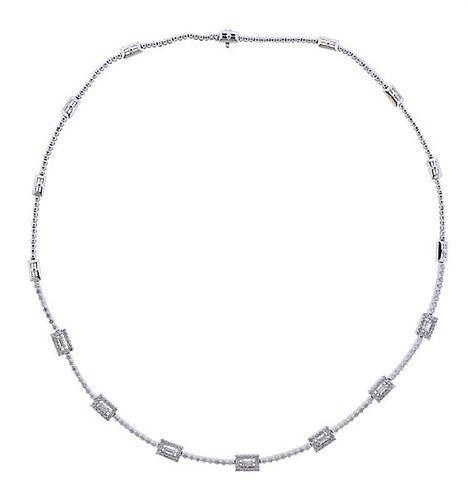 18k Gold 2.10ctw Diamond Necklace