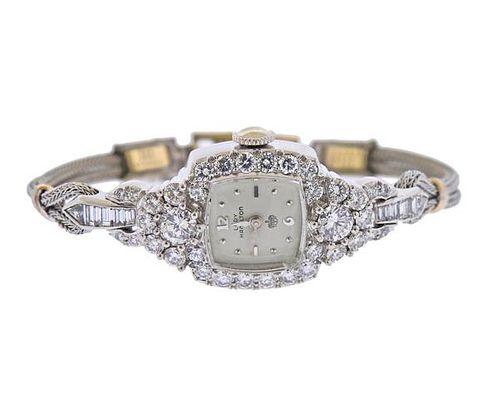 Hamilton 1950s Platinum Diamond Lady's Watch