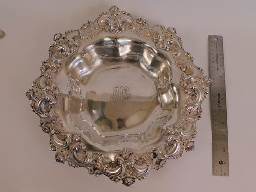 FANCY STERLING BOWL BY SMITH