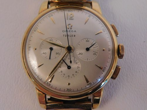 OMEGA 18K GOLD CHRONOMETER WATCH
