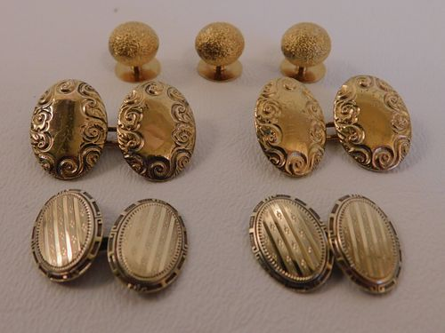 LOT 14K GOLD CUFFLINKS