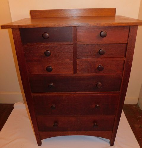 GUSTAV STICKLEY TALL CHEST
