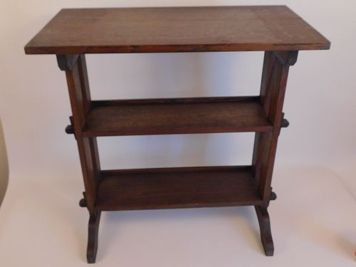 ROYCROFT OAK LITTLE JOURNEYS BOOKSTAND