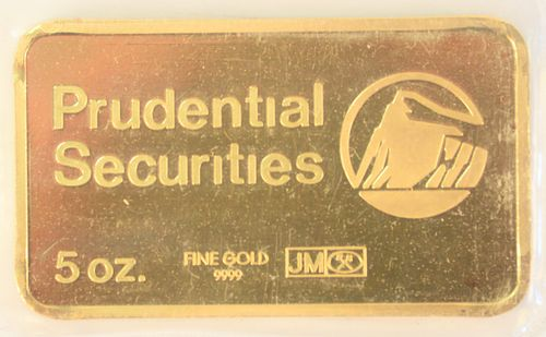 5 Ounce Gold Prudential Securities.