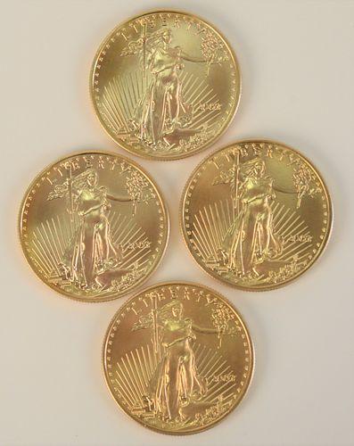 Four Gold Eagles, 2003, 1 oz. each.