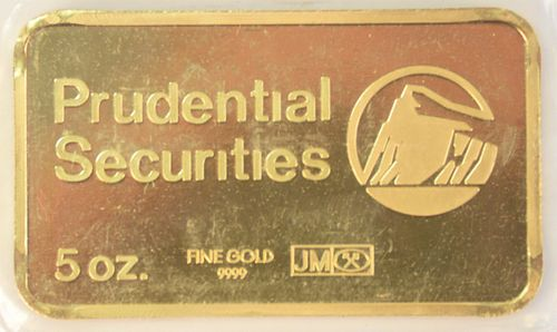 Five Ounce Gold Bar, Prudential.