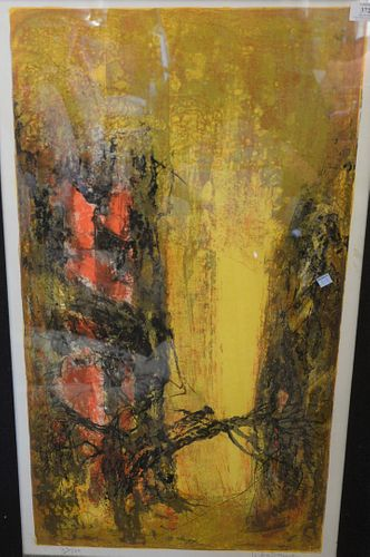 Dang Lebadang (Vietnamese, 1922 - 2015), untitled abstraction, lithograph in colors on paper, signed and numbered '73/120' in pencil along the lower m