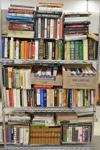 Twenty Eight Boxes of Books, hardcover of various age and topics.