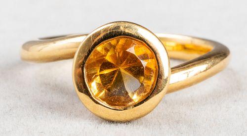 Angela Cummings 18K Yellow Gold & Citrine Ring