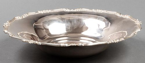 800 Silver Scalloped Rim Serving Bowl