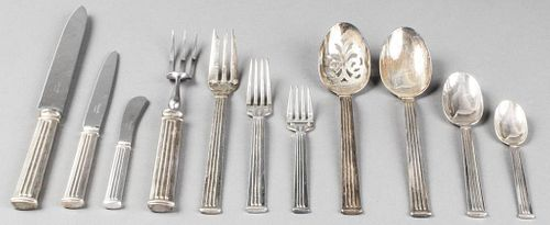 "Christofle ""Triade"" Silver-Plate Flatware Service"